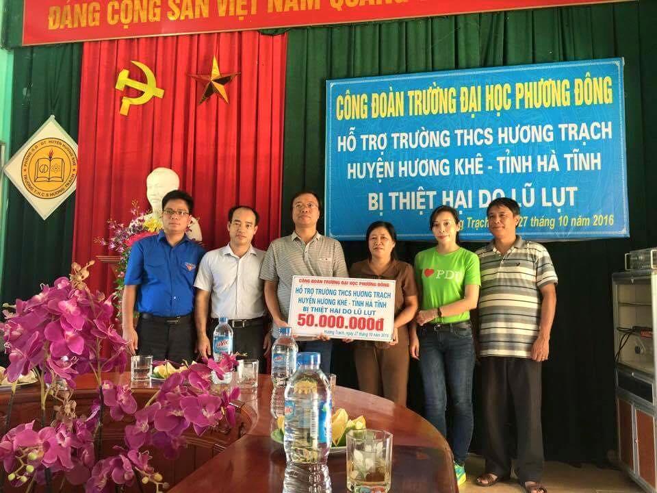 Công đoàn Trường Đại học Phương Đông - Ủng hộ miền Trung 150 triệu đồng
