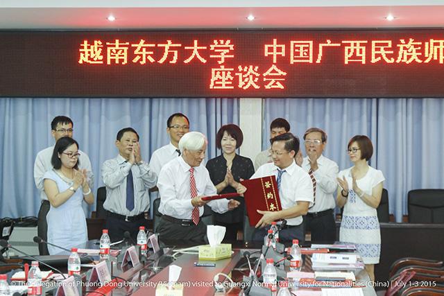 (HTĐT) Học viện sư phạm dân tộc Quảng Tây (Trung Quốc) cung cấp học bổng cho sinh viên trường Đại học Phương Đông