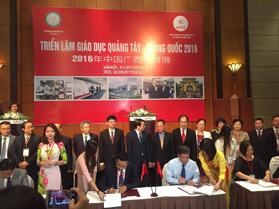 (HTĐT) Triển lãm giáo dục tỉnh Quảng Tây mở rộng quan hệ hợp tác cho nhiều trường Đại học