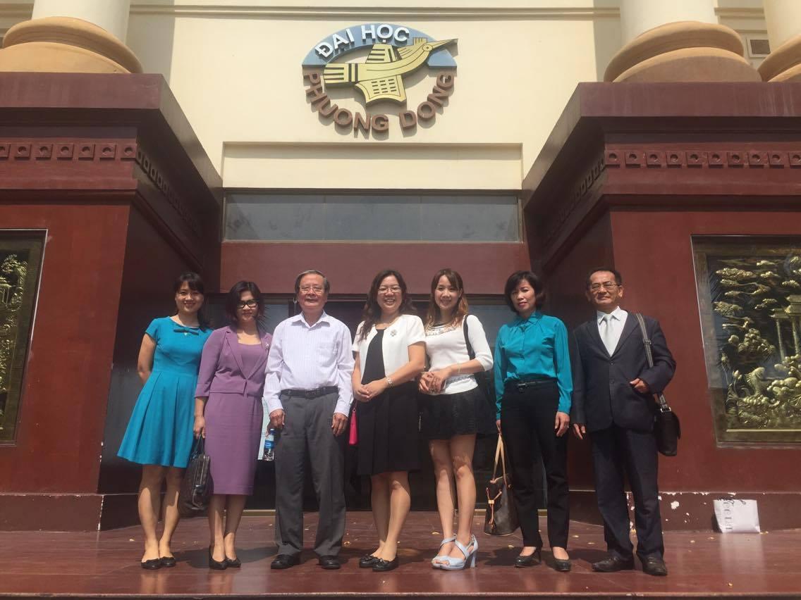 (HTĐT) Trường Đại học Chong Chou (Đài Loan - Trung Quốc) thăm và làm việc với trường Đại học Phương Đông