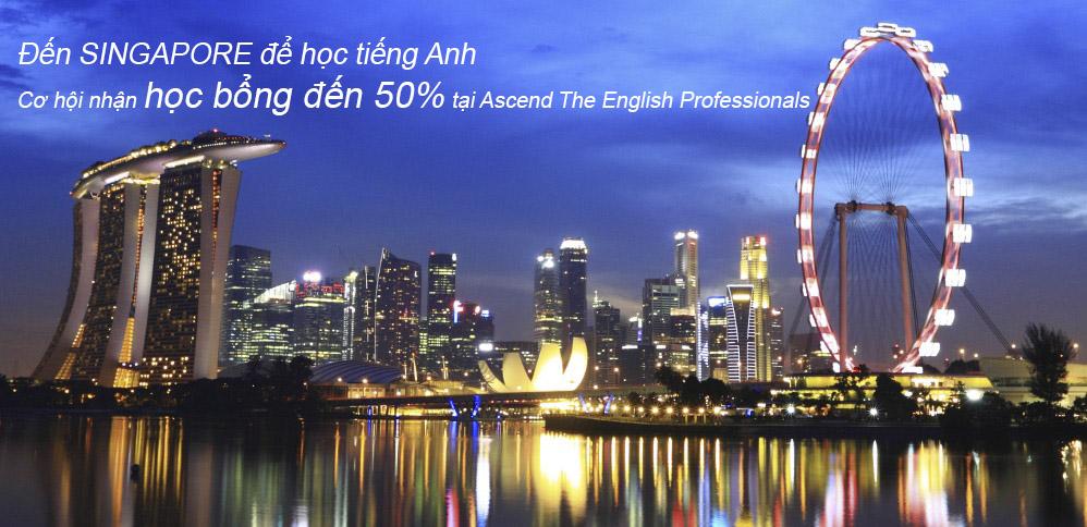 (HTĐT) Tặng học bổng đến 50% các khóa học tiếng Anh tại Singapore