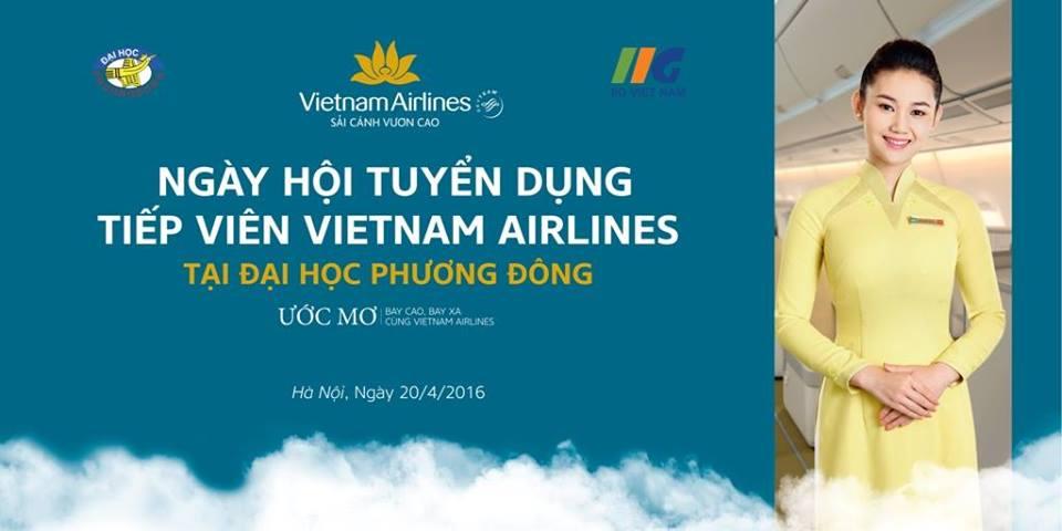 (HTĐT) Ngày hội tuyển dụng của Vietnam Airlines thu hút nhiều sự quan tâm của sinh viên