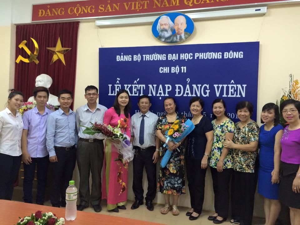 Lễ kết nạp đảng viên Hoàng Lê Hạnh