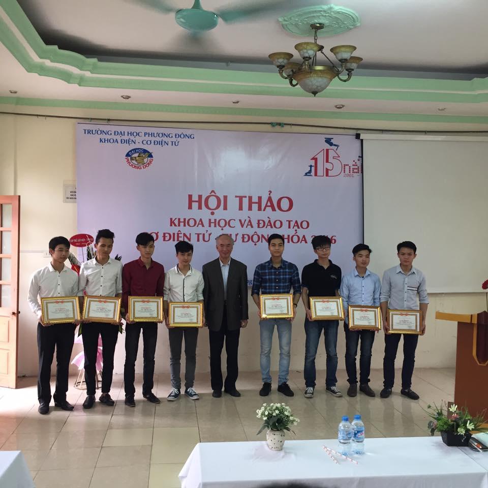 Khoa Điện - Cơ điện tử ĐH Phương Đông tổ chức Hội thảo Khoa học và Đào tạo Cơ điện tử - Tự động hóa 2016