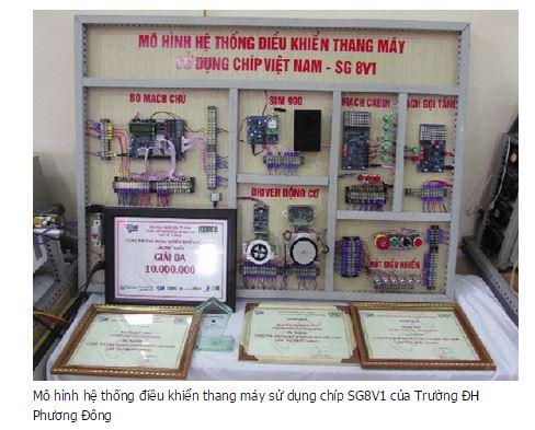 [Cong nghe] Đại học Phương Đông ứng dụng chíp của Việt Nam SG8V1 vào thiết kế Bộ điều khiển thang máy