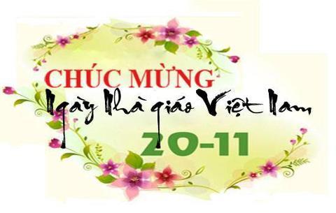(CNSH)-Sinh viên Khoa CNSH-MT chúc mừng ngày Nhà giáo Việt Nam 20/11