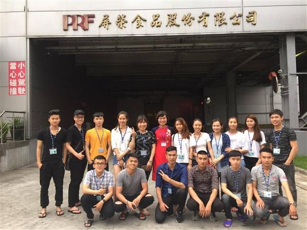 (CNSH) - Đoàn sinh viên khoa CNSH&MT tham gia chương trình thực tập sinh tại Đài Loan năm 2017
