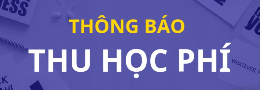 THÔNG BAO CỦA HIỆU TRƯỞNG về việc thu học phí học kỳ 1 năm học 2021-2022