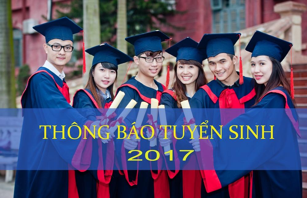 Thông báo tuyển sinh Đại học chính quy - Năm 2017